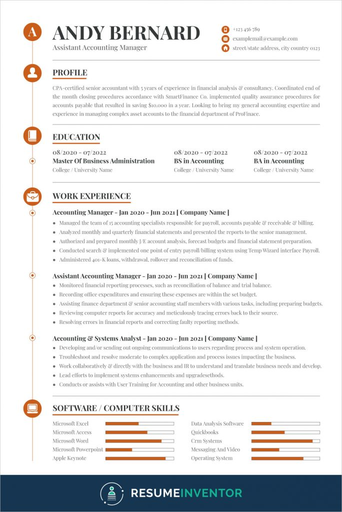professional accountant resume template