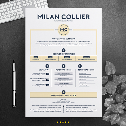 Human resource assistant resume template