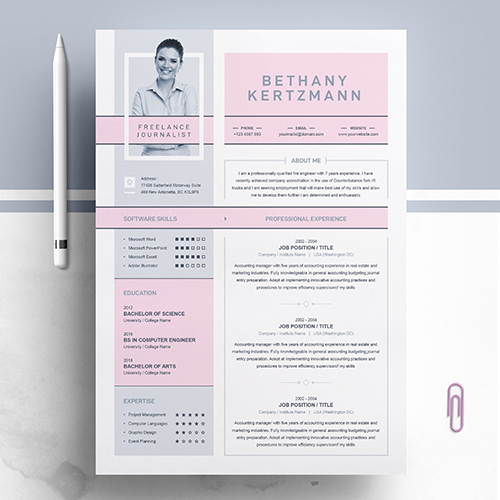 Freelance Resume Template With Cover Letter