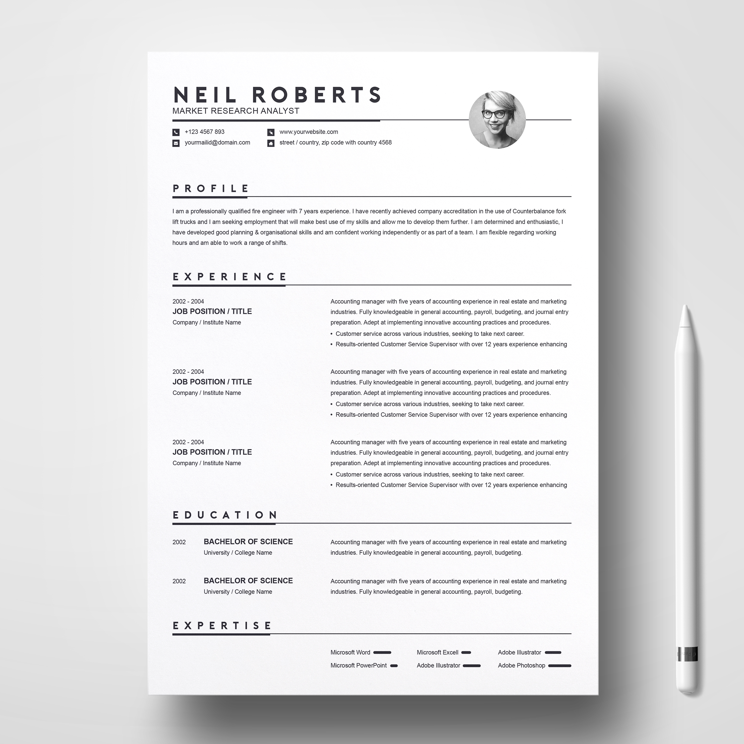 Word Resume / CV & Cover Letter