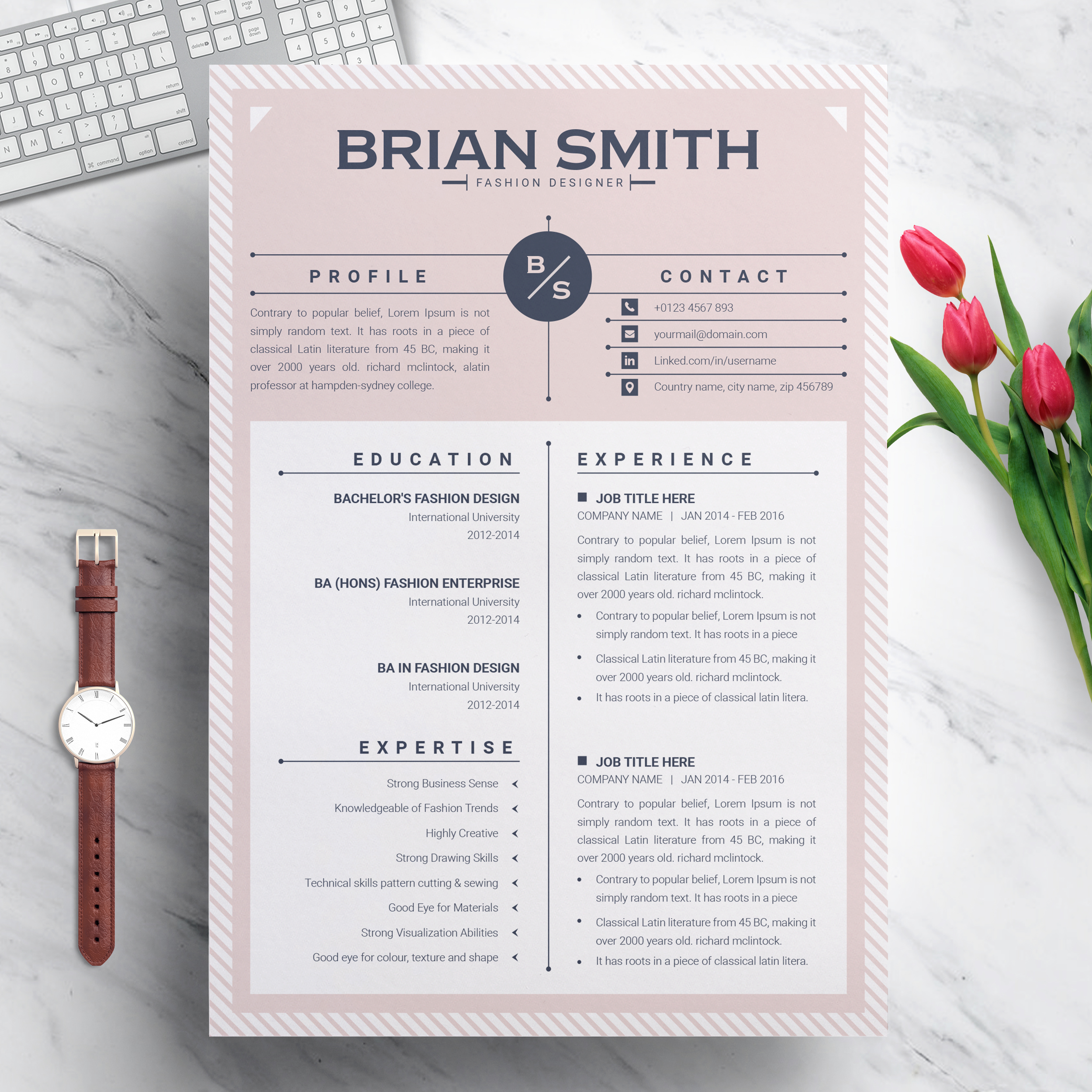 Free Modern Creative Professional Resume Template For Word