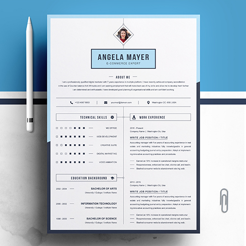 E-commerce Specialists resume template