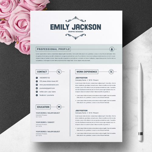free resume with cover letter template word