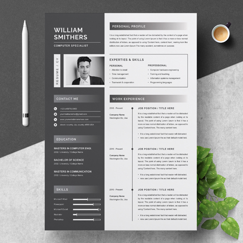 Computer Specialist Resume Template