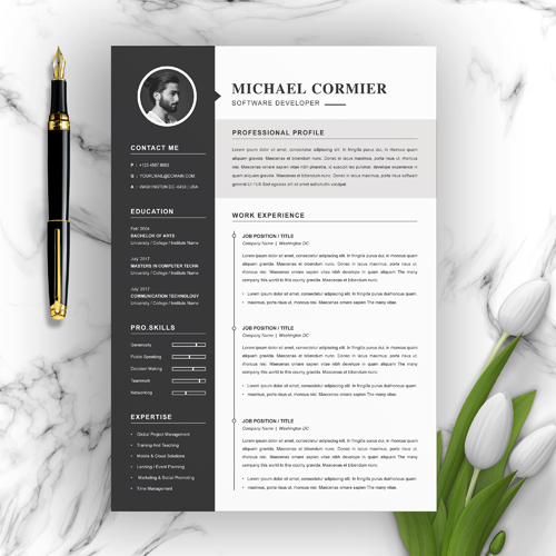 Laravel Developer Resume Template