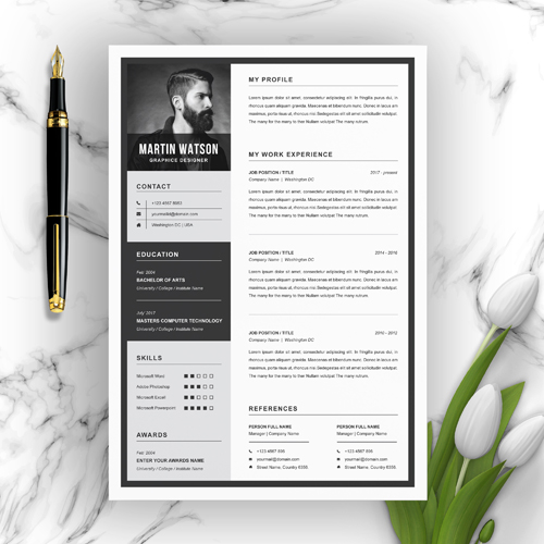 Motion Graphics Resume Template