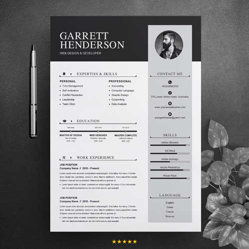 Senior web designer resume template