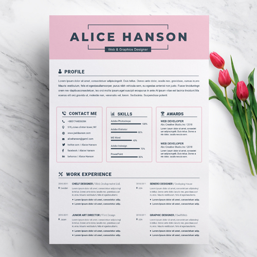 Free attractive Resume Templates 2021