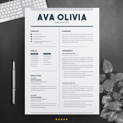 Bank Assistant Resume Template