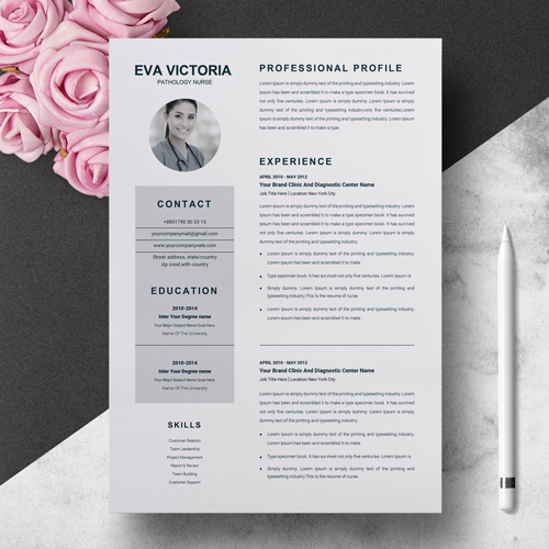 Pathology Nurse Resume Template