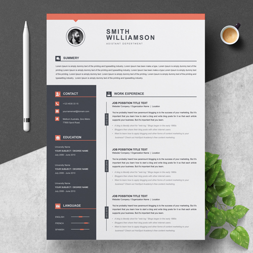 Assistant Department Resume Template