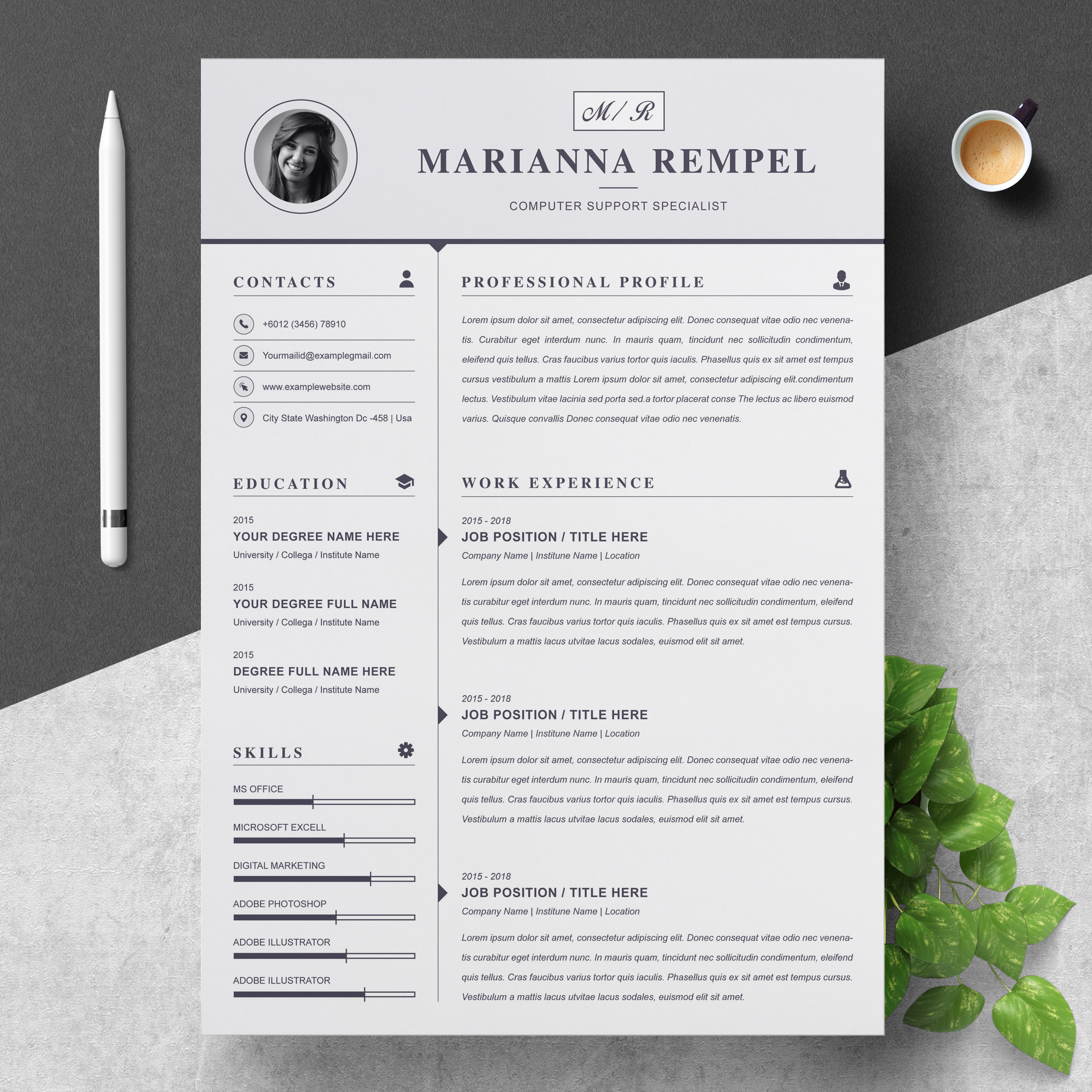 Computer Support Specialist Resume Template