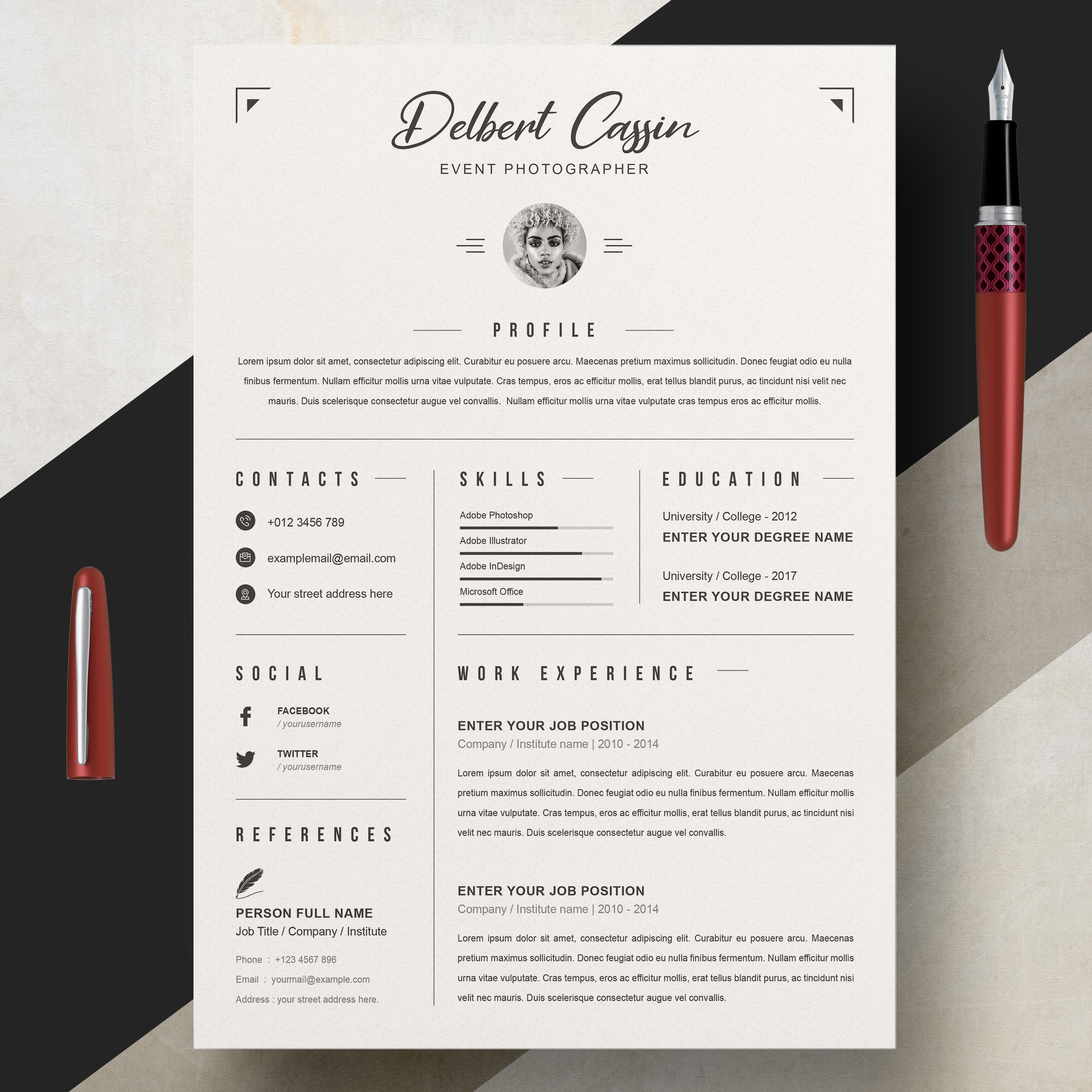 Event Photographer Resume Template