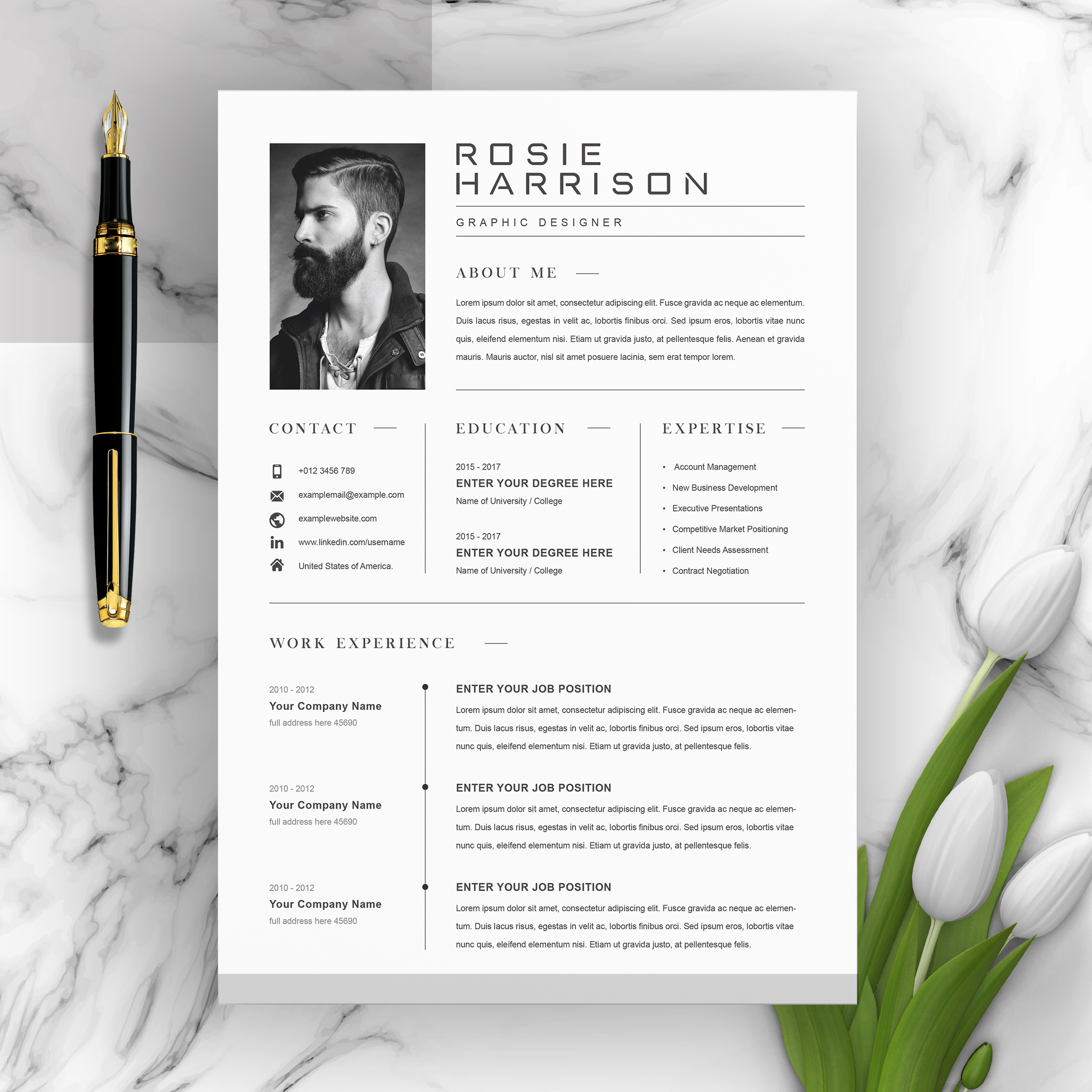 free resume templates with multiple file formats