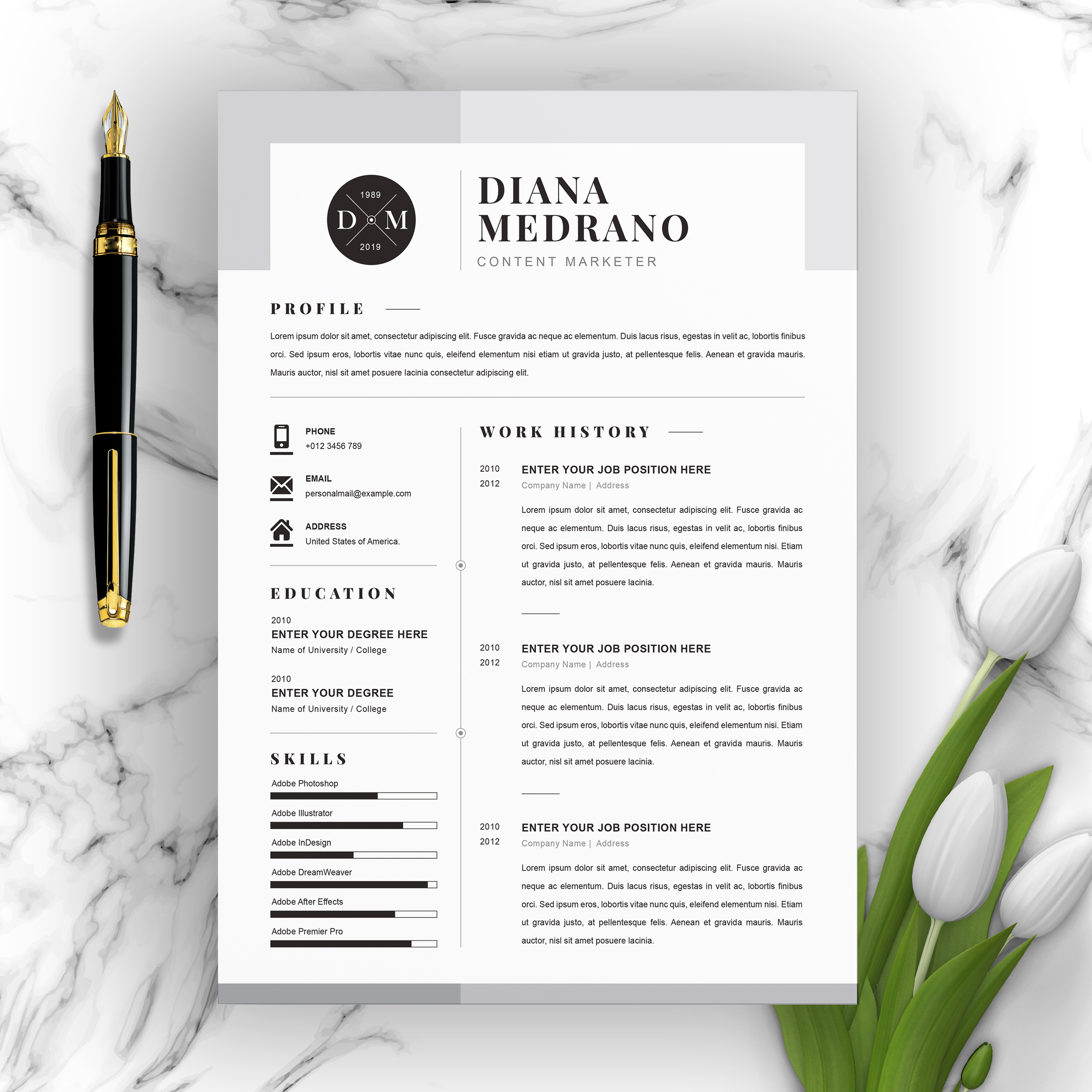 Content Marketer Resume 2021