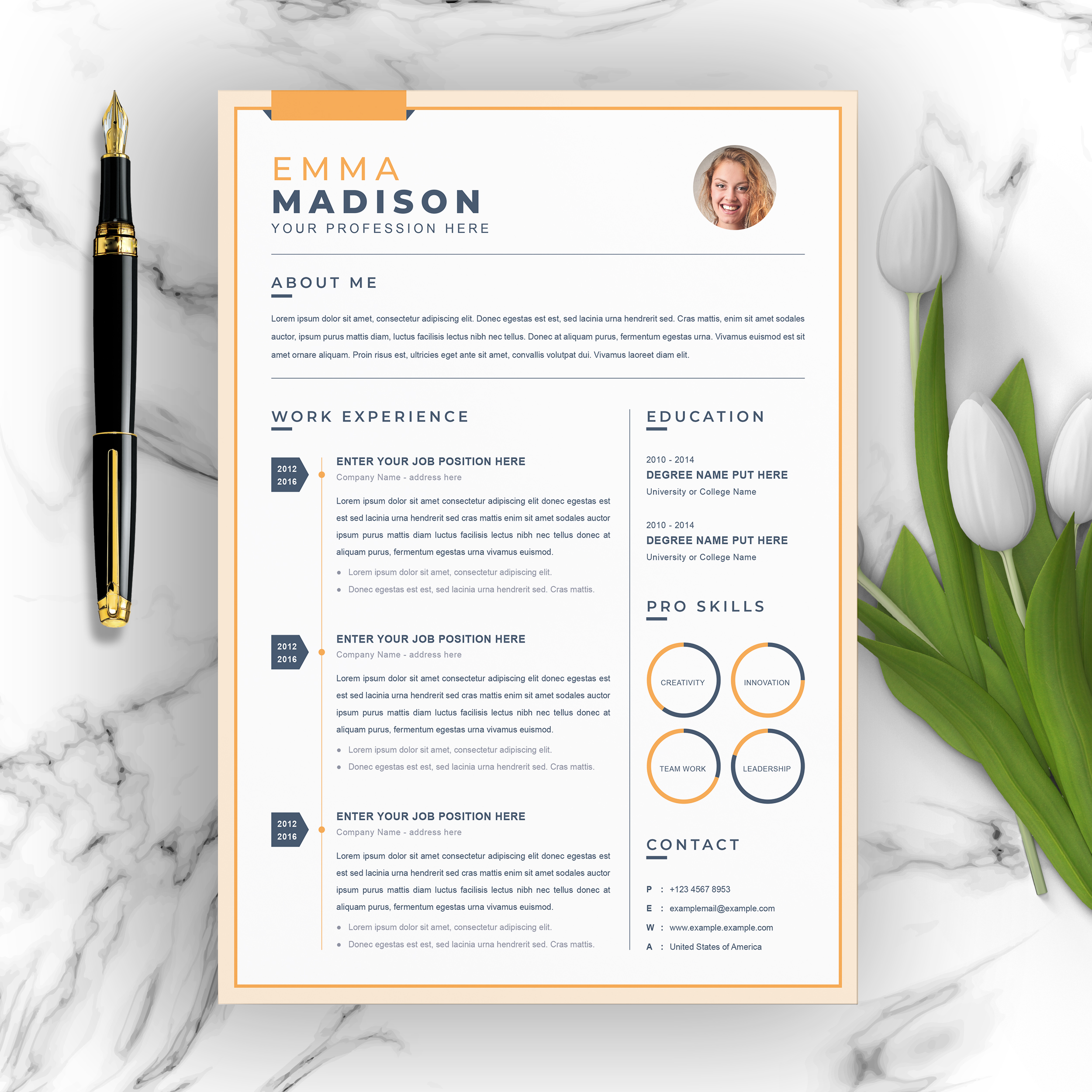 Infographic CV Template 2021