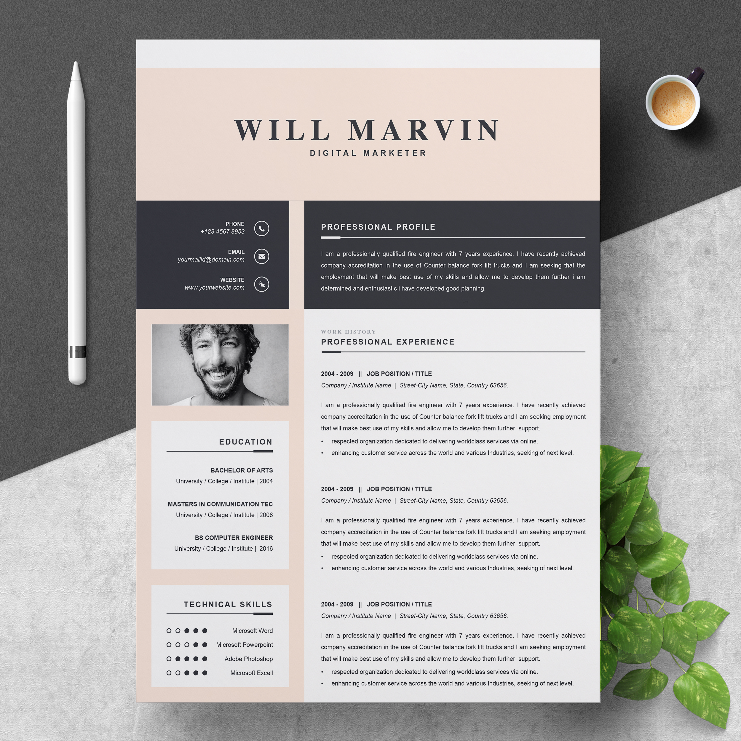 Marketer Resume Template 2021