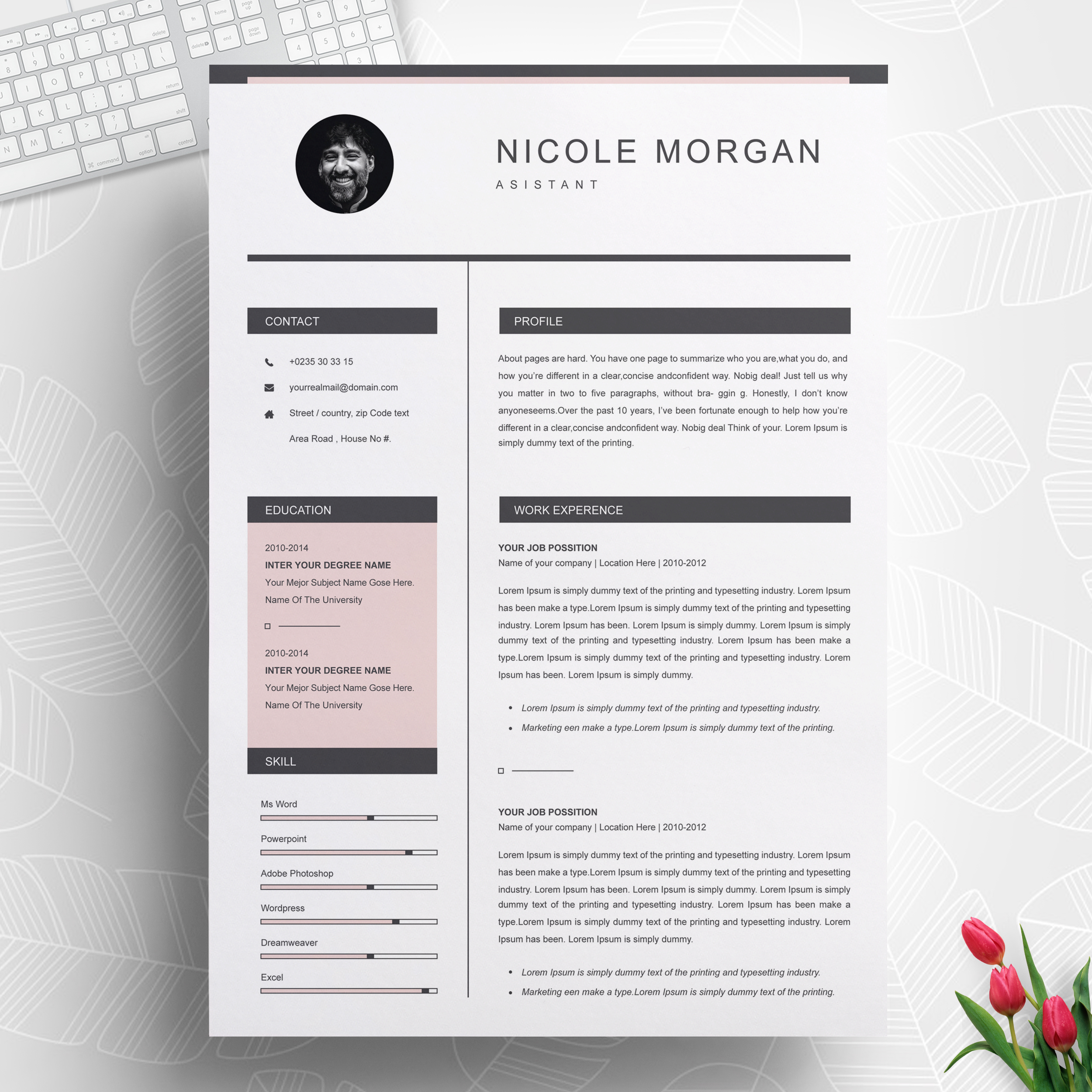 Assistant Resume Template 2021