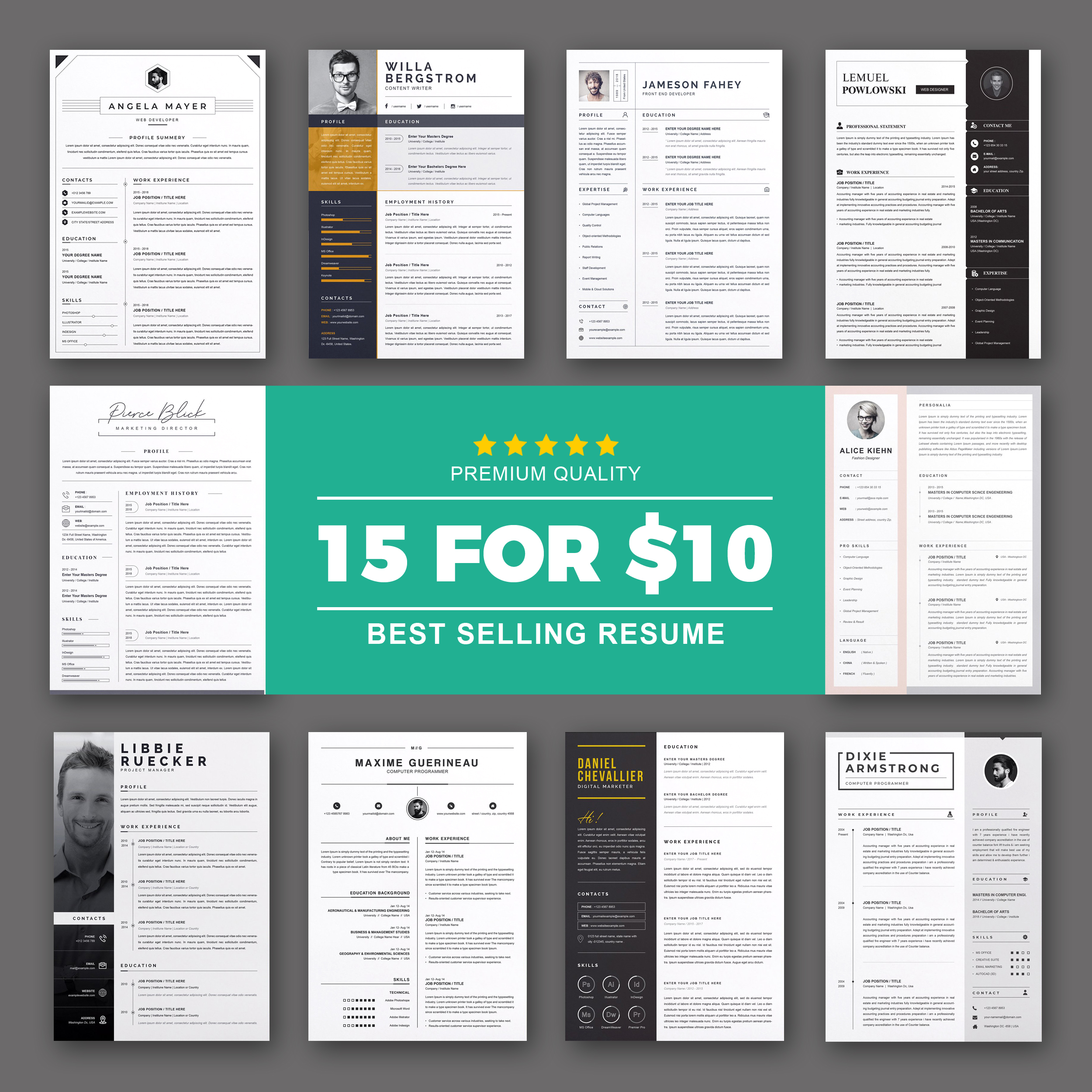 resume template bundle 2021