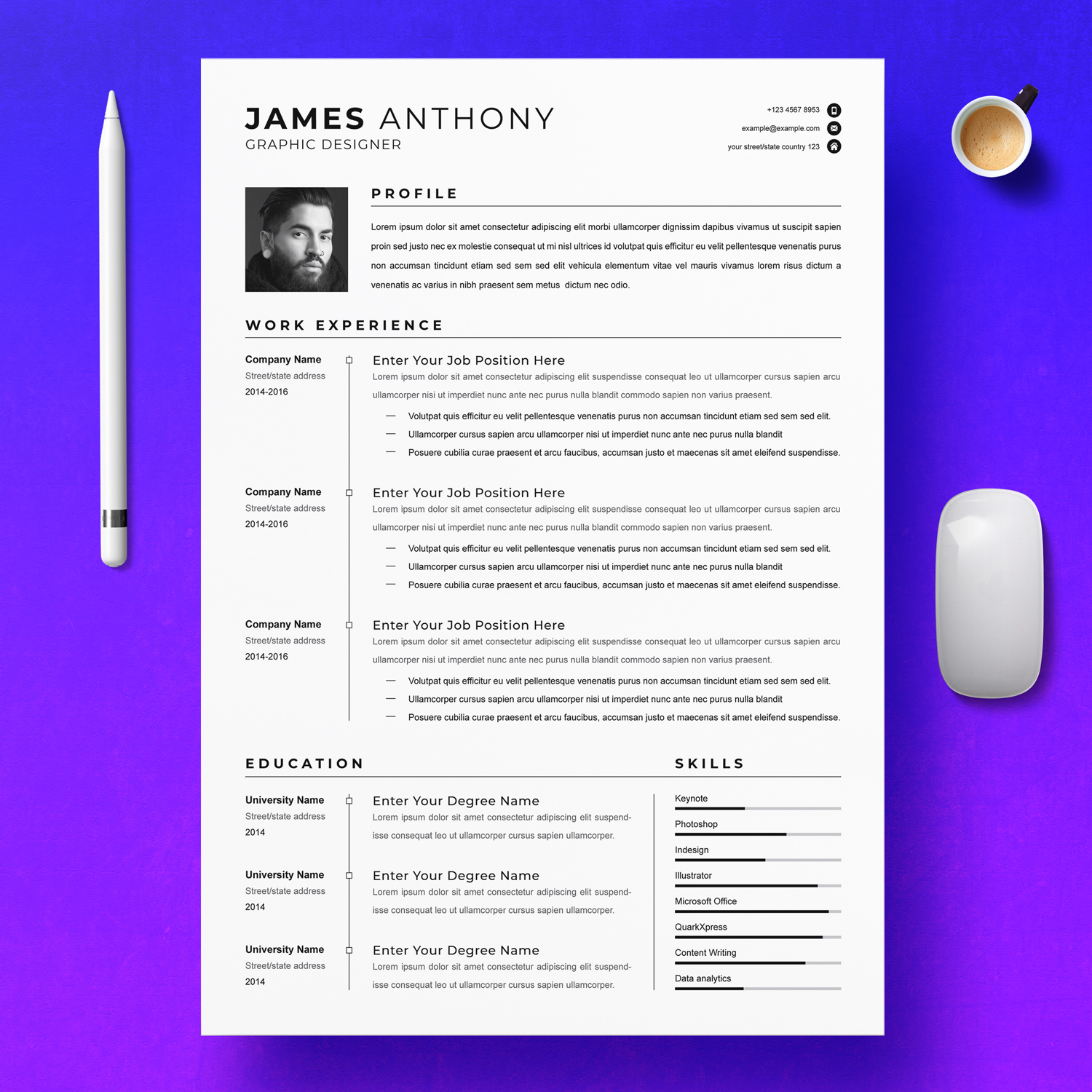 Graphic Designer Resume 2021