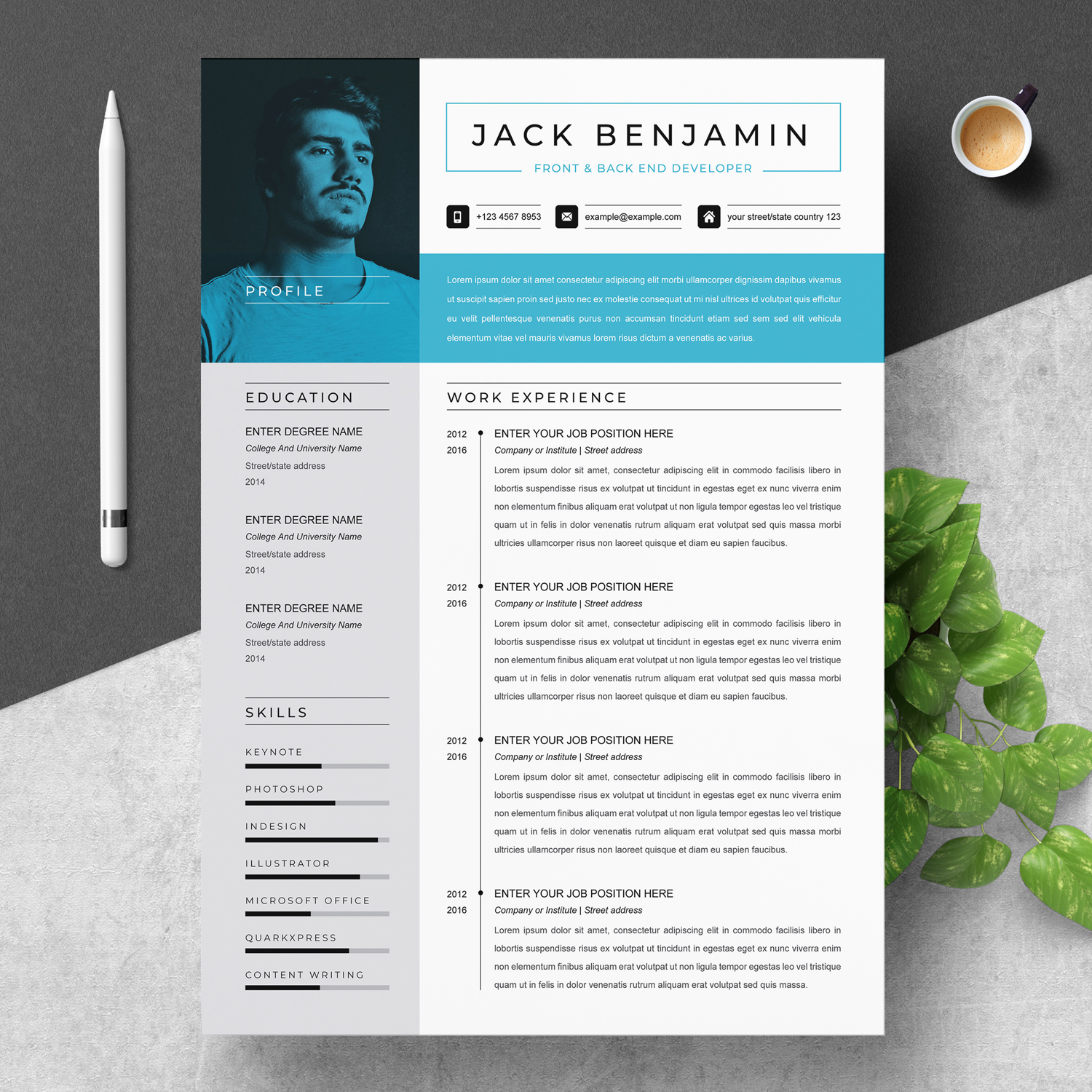Front End Developer Resume 2021