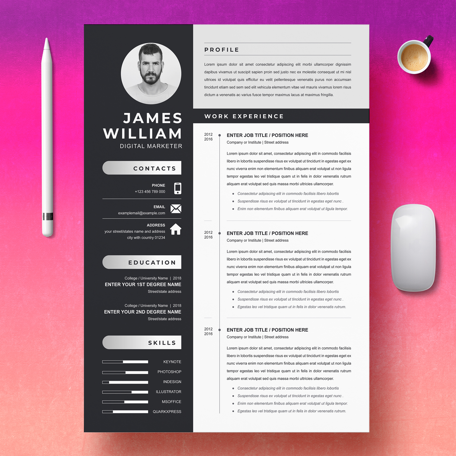 Marketer CV Template 2021
