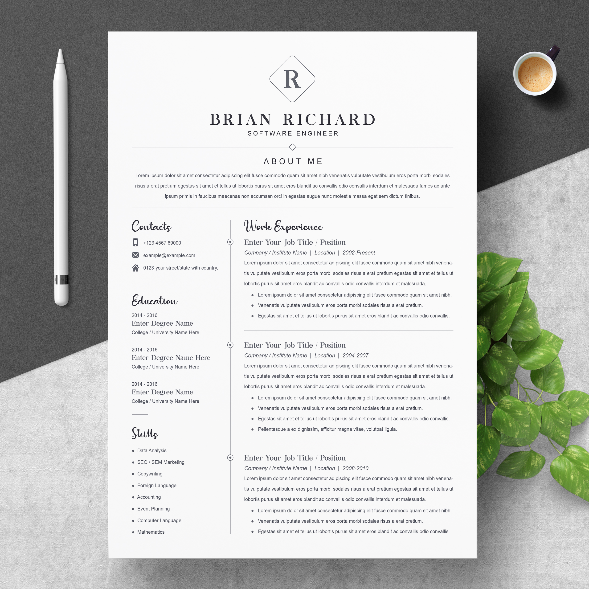 Software Engineer Resume 2021