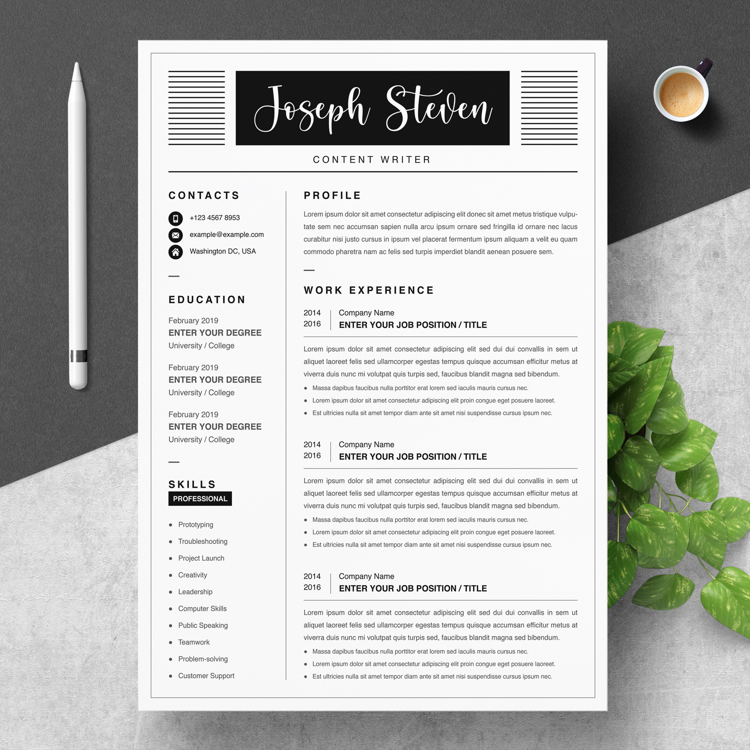 Creative Writer Resume 2021