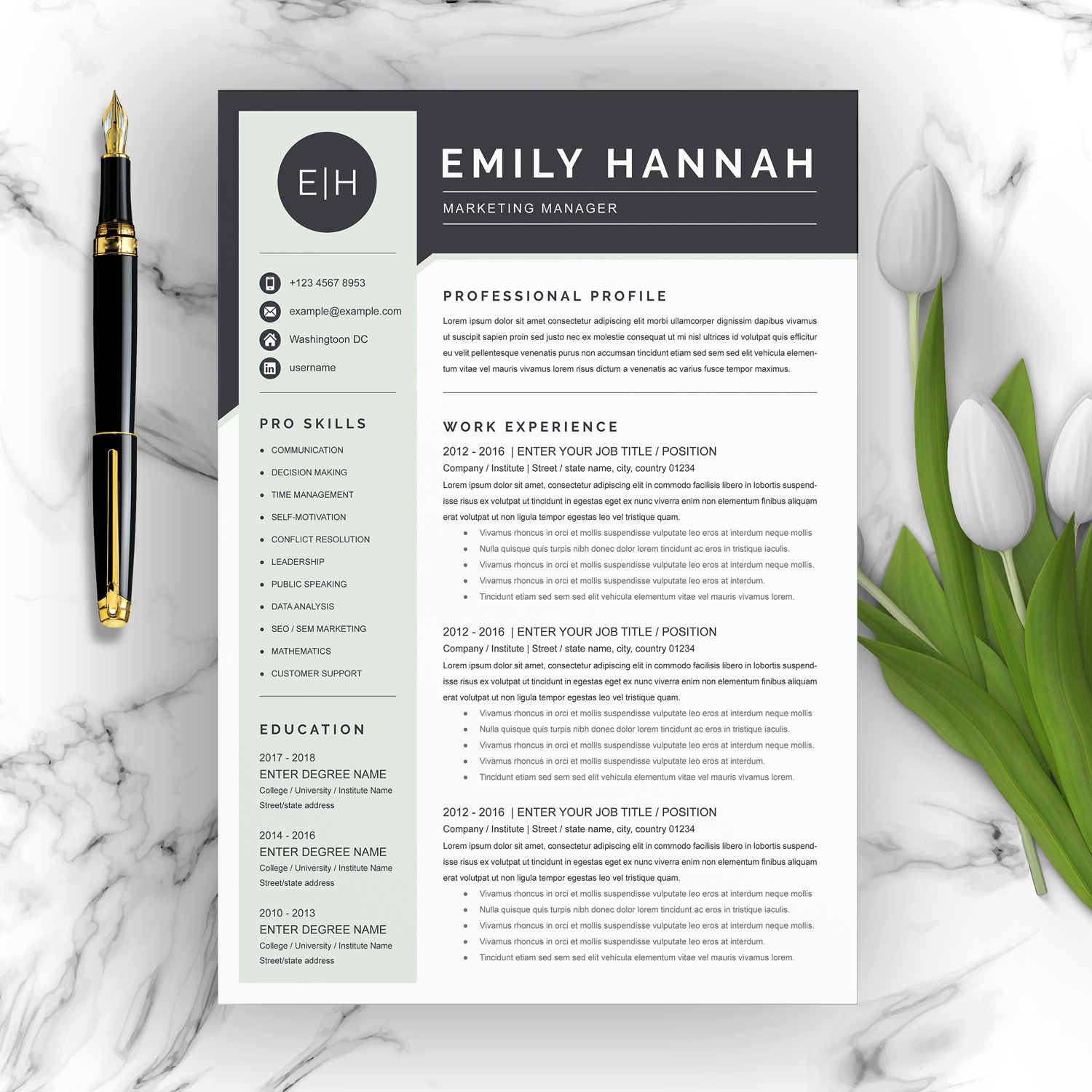Marketing Manager CV 2021