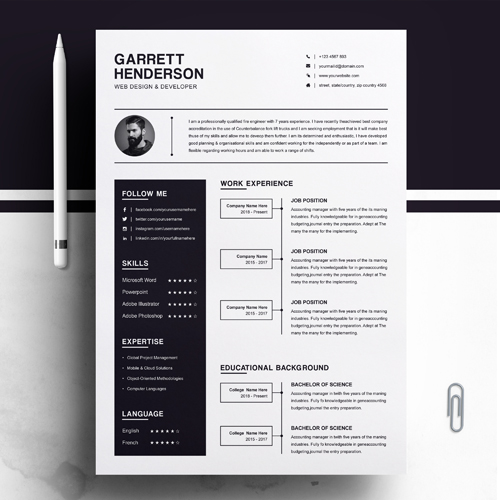 Junior web designer resume