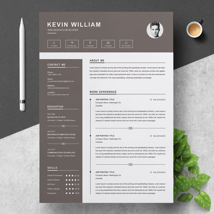 Sample Web Development Manager Resume Template.