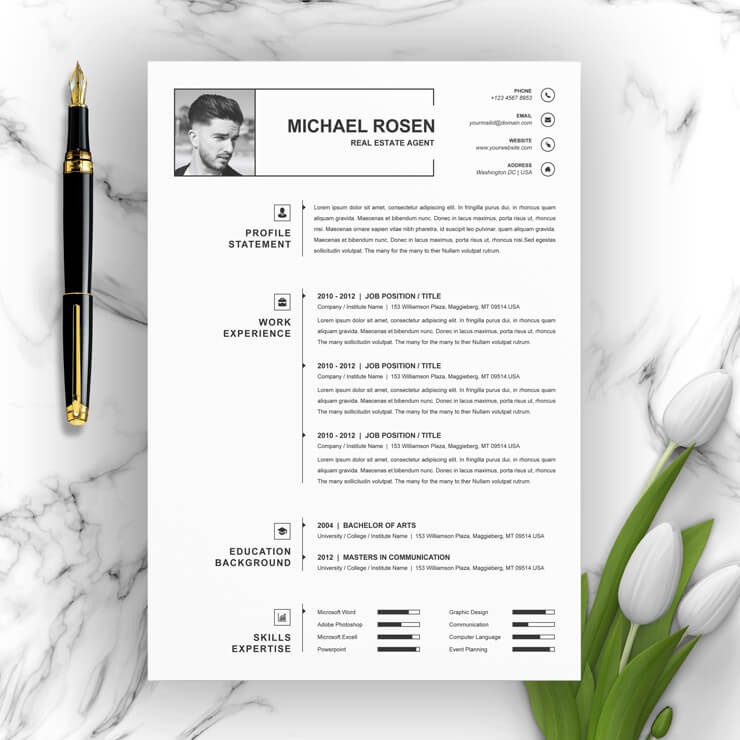 One Page Clean Resume 2021