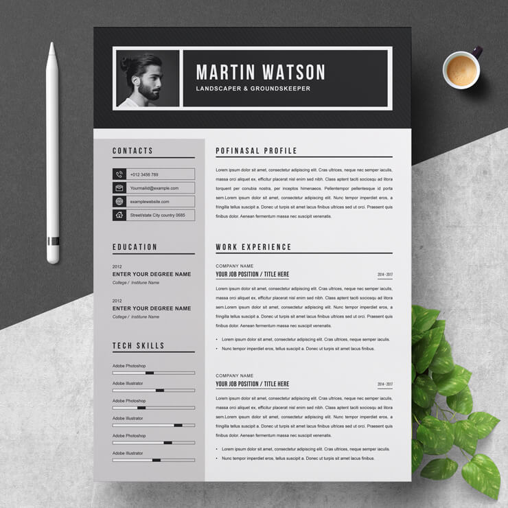 Groundskeeper Resume Template