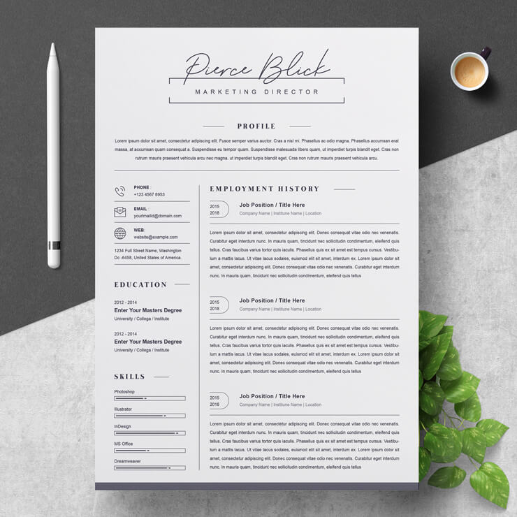 Marketing Director Resume Template