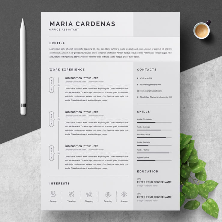 Office Assistant CV Template