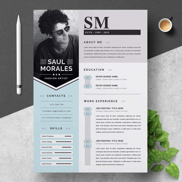 Fashion Designer Creative Resume Template