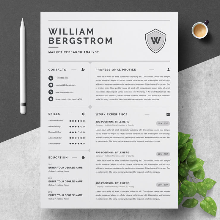 Junior Market Research CV Template