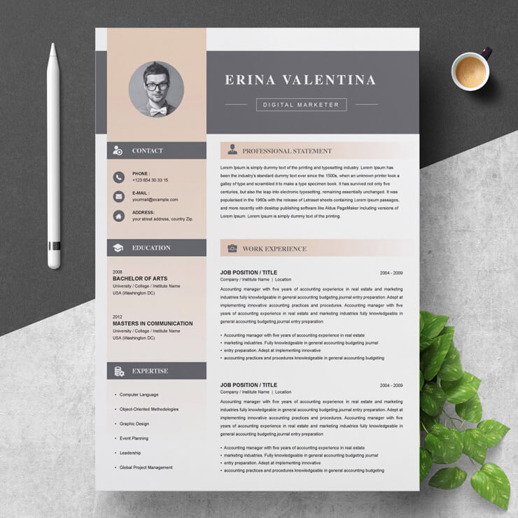 Digital Marketing Resume Template 2021