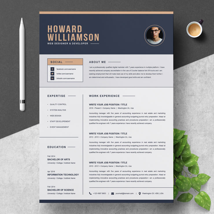 Freelance Photographer CV Template