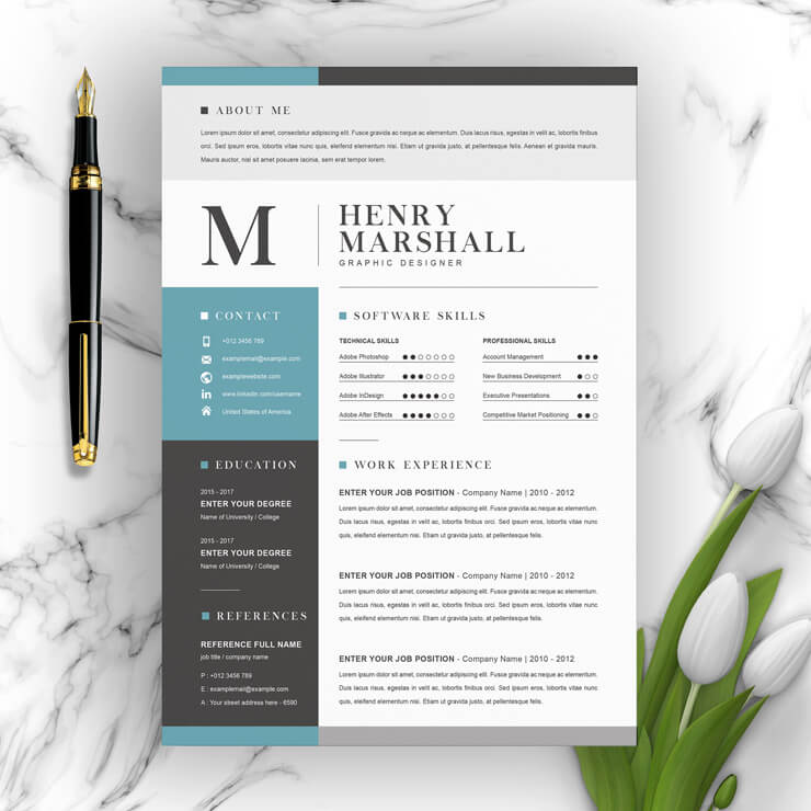 Graphic Design Art Resume Template