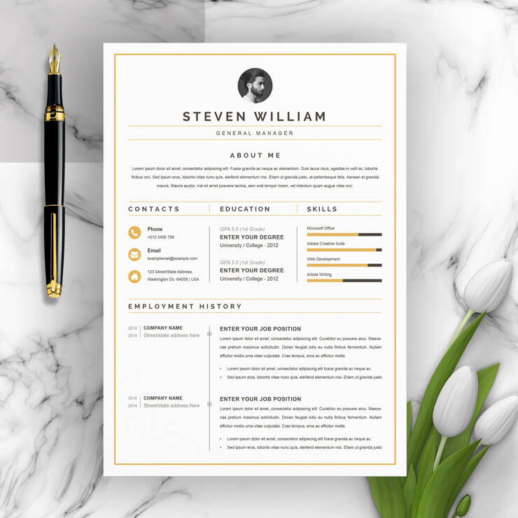 General Manager Resume Template