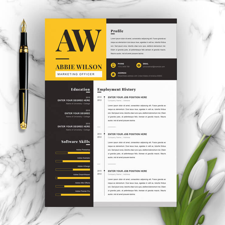 Marketing Manager Resume Template 2021