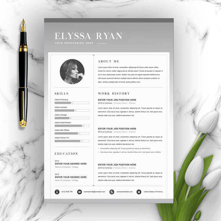 infographic resume template 2021