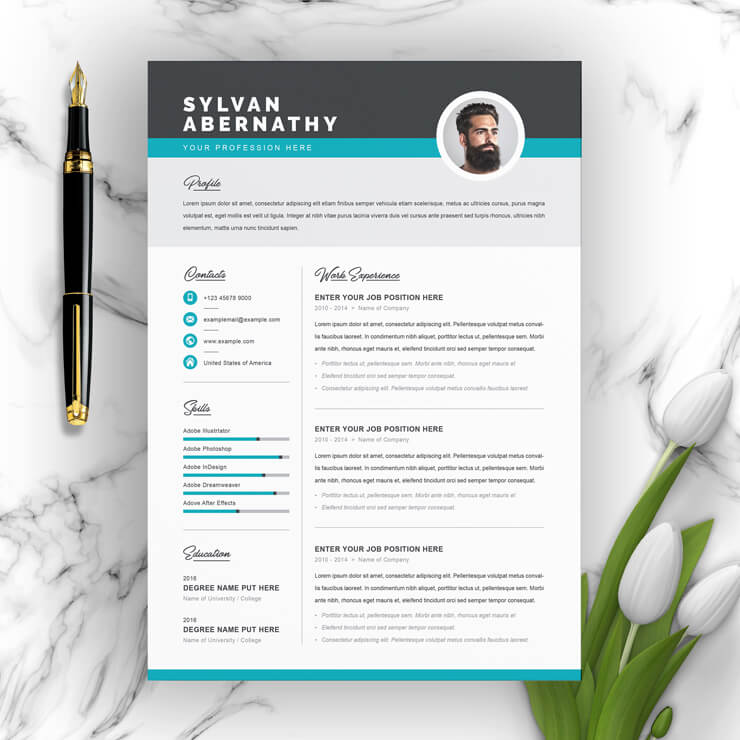 Simple Resume Template 2021