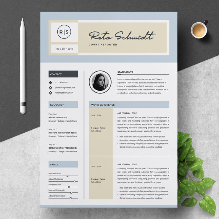 Court Reporter Resume Template