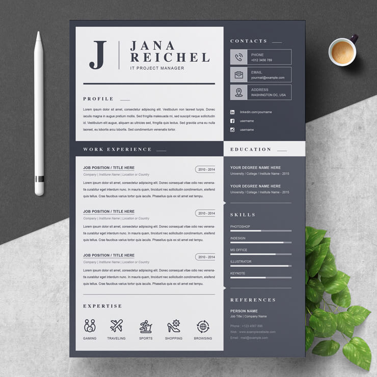 Project Manager curriculum vitae template