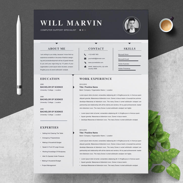 computer hardware technician resume template