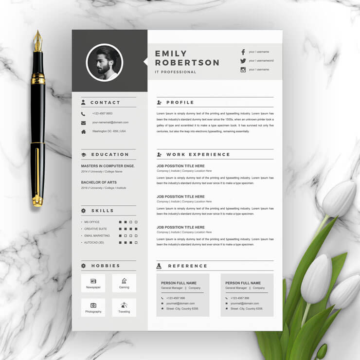 It Professional resume 2021 Template