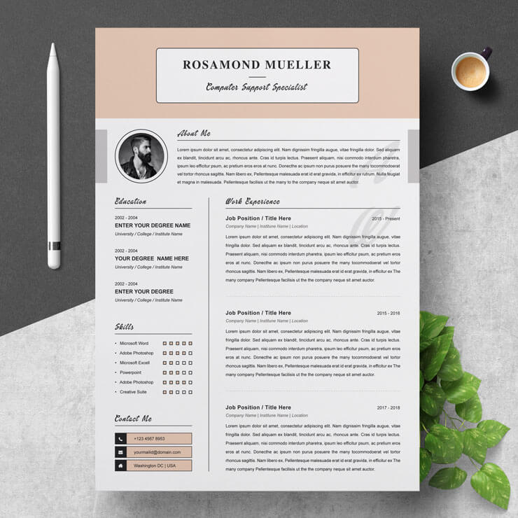 Computer Field Technician Resume Template