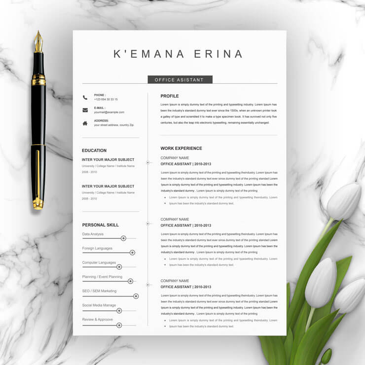 office assistant resume 2021 Template
